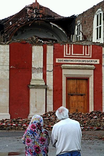 Zerstörte Kirche in Cento nach dem Erdbeben von 2012