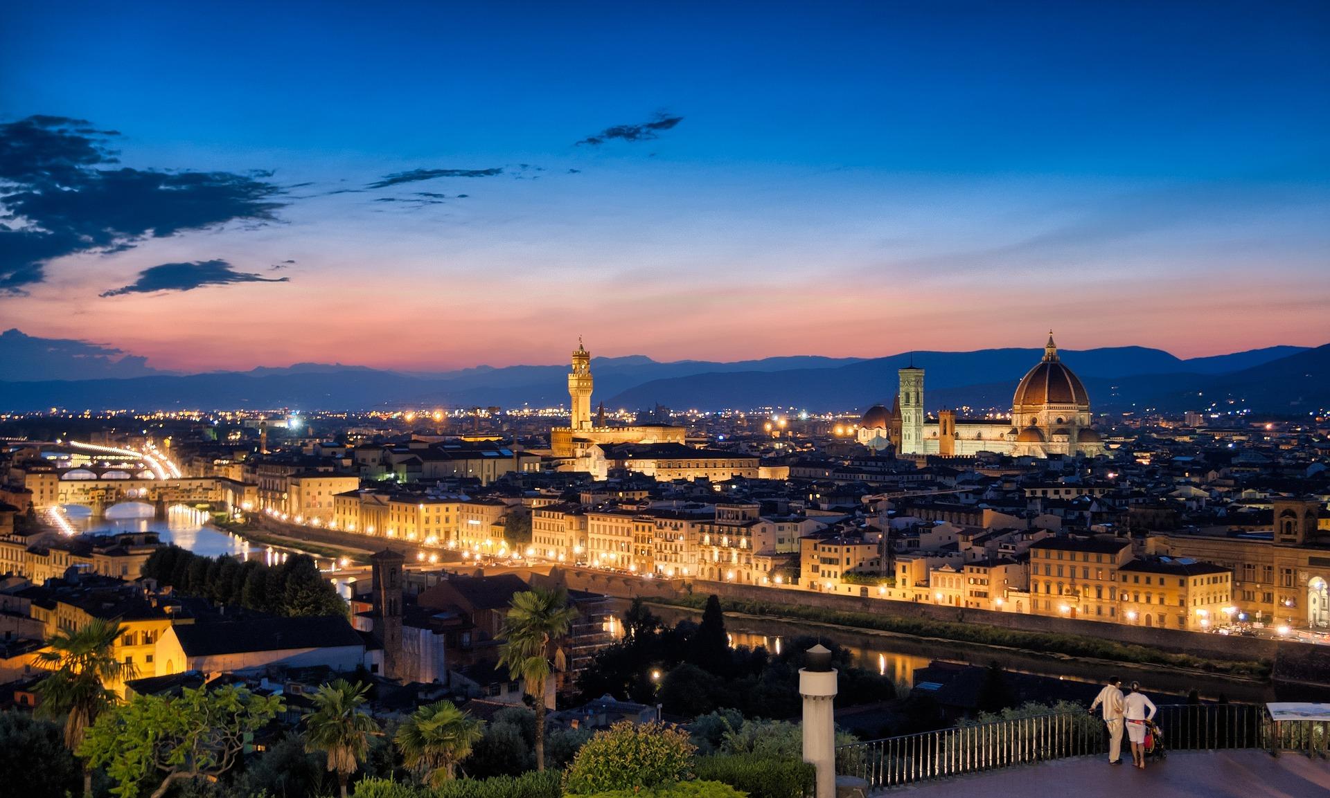 Florenz liegt in der Nordtoskanischen Ebene